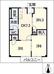 ポアソン・ボワール B棟[1階]の間取り
