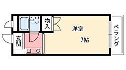 兵庫県西宮市門前町の賃貸マンションの間取り