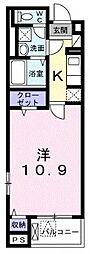 横浜市営地下鉄ブルーライン 湘南台駅 徒歩6分の賃貸アパート 3階1Kの間取り