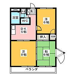 シャトーK1[2階]の間取り