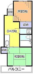 東京都小平市学園西町3の賃貸マンションの間取り