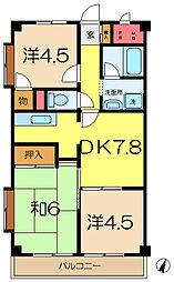 丸山台レジデンス[6階]の間取り