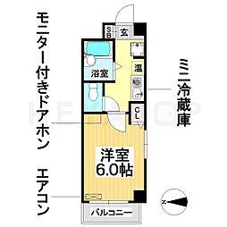 愛知県名古屋市南区菊住1の賃貸マンションの間取り