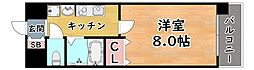阪神本線 新在家駅 徒歩4分の賃貸マンション 3階1Kの間取り