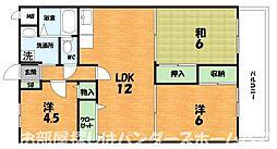 大阪府枚方市南船橋2丁目の賃貸マンションの間取り