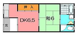 鍵田ハイツ[1階]の間取り