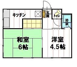 東荘[2F東号室]の間取り
