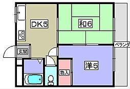 牧野・良野マンション[2階]の間取り