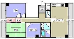 エルクルーセ[5階]の間取り