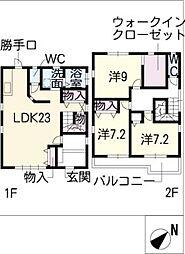 [一戸建] 愛知県名古屋市名東区貴船3丁目 の賃貸【/】の間取り