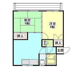 鮎川マンション[303/305/306号室]の間取り