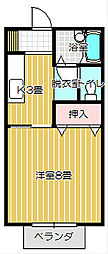 N・Y KANEGASAKI B[105号室号室]の間取り