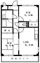 ハイツ金子[2階]の間取り