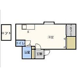 福岡県福岡市博多区那珂4丁目の賃貸アパートの間取り