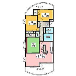 オーバル名東[3階]の間取り