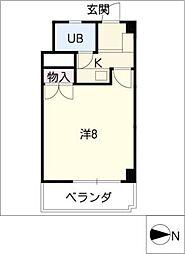 シャンポール東栄[3階]の間取り