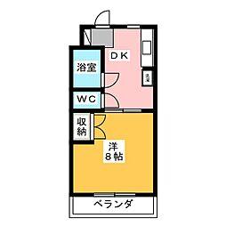 静岡県浜松市中区高丘北3の賃貸マンションの間取り