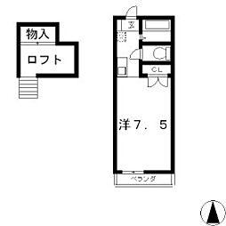 ロフトハウスこうの[1階]の間取り