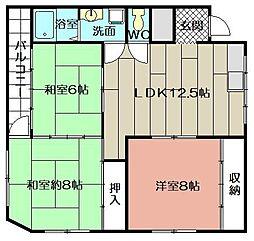 内山第三ビル[402号室]の間取り