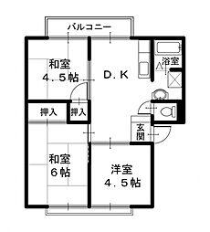 サンシティEMOTO  I[2階]の間取り