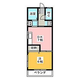 メゾンイソヤマ[202号室]の間取り