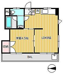 第二豊田マンション[1階]の間取り