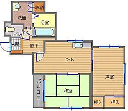 ブランディール鮫島[6階]の間取り