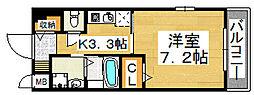リバーコート浅香[3階]の間取り