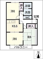 かたせハイツ[2階]の間取り
