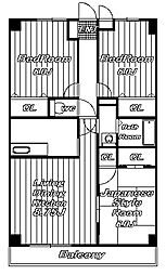 ラフィネ西都賀[1階]の間取り