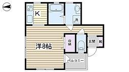 谷中田ハウス[1階]の間取り