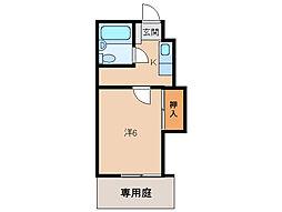 パルティール福島[1階]の間取り