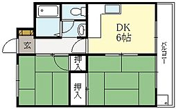 岸野コーポ[3階]の間取り