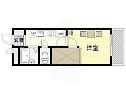 大阪モノレール彩都線 豊川駅 徒歩8分の賃貸マンション 3階1Kの間取り
