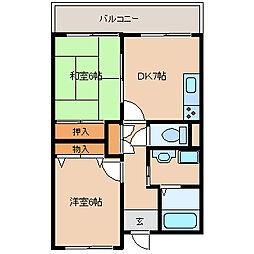 兵庫県尼崎市稲葉荘4丁目の賃貸マンションの間取り