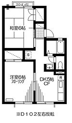 ファミール宮前平[D102号室]の間取り
