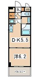 アットGBstation[4階]の間取り