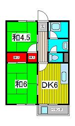 マンションナカムラ[3階]の間取り