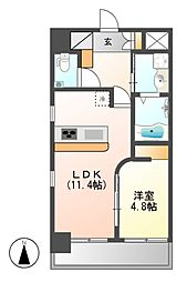 GK fan レジデンス黒川[3階]の間取り