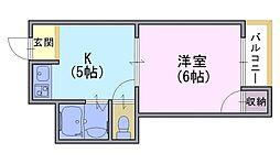 クレセンシャル神足[2階]の間取り