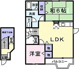 ベル・エア・ガ−デンB[2階]の間取り