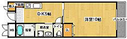 フェアリーコート鳳[306号室]の間取り