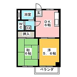 サニー緑丘[1階]の間取り