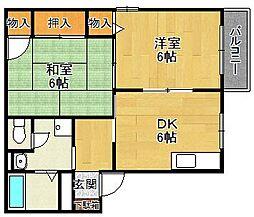 マニャーナ夙川[2階]の間取り
