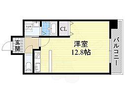 Osaka Metro谷町線 阿倍野駅 徒歩8分の賃貸マンション 3階1Kの間取り