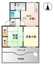 コンフォールシャトー[1階]の間取り