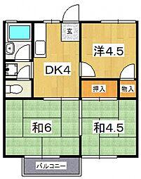 木村ハイツ(北ノ窪)[203号室号室]の間取り