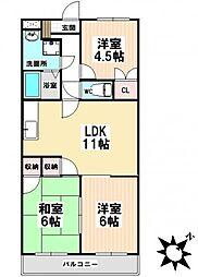 愛知県名古屋市瑞穂区日向町2丁目の賃貸マンションの間取り