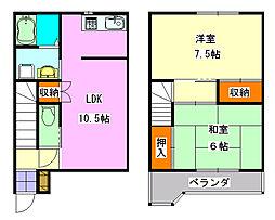 [テラスハウス] 千葉県船橋市駿河台2丁目 の賃貸【千葉県 / 船橋市】の間取り