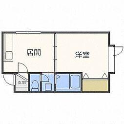ピクシー元町[1階]の間取り